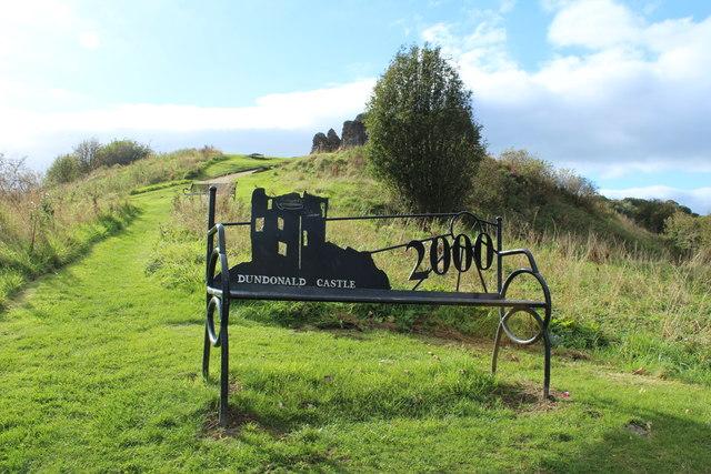 Commemorative Seat near the Castle, Dundonald