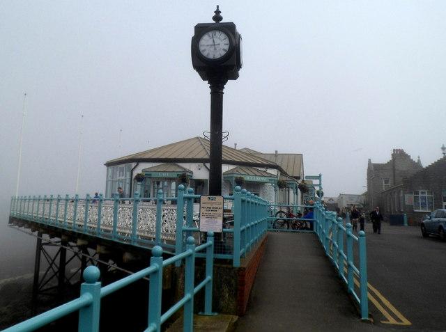 Clock near Mumbles Pier