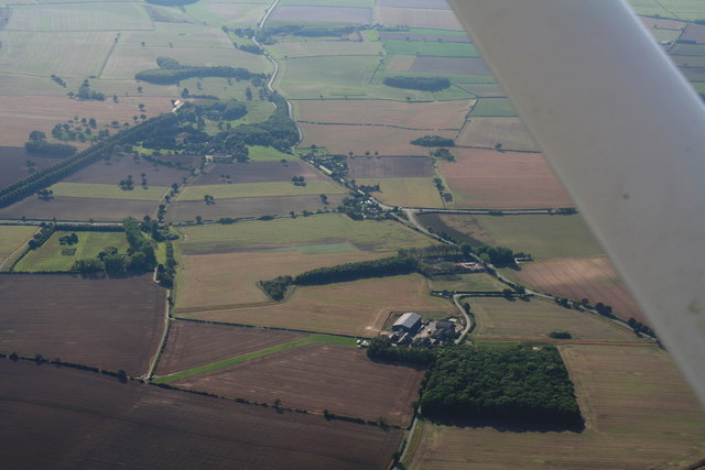 Riby, aerial 2013