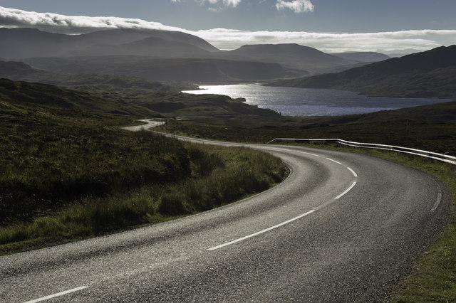 The Plunge down to Loch Assynt