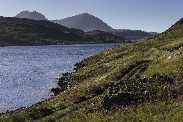 Ruin by Loch Glendhu
