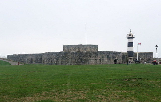 Southsea Castle and lighthouse