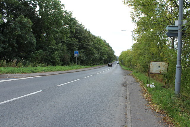The A759 to Troon near Dundonald