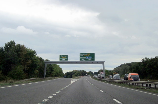 A46 Southbound Slip Road for Warwick A429 Exit