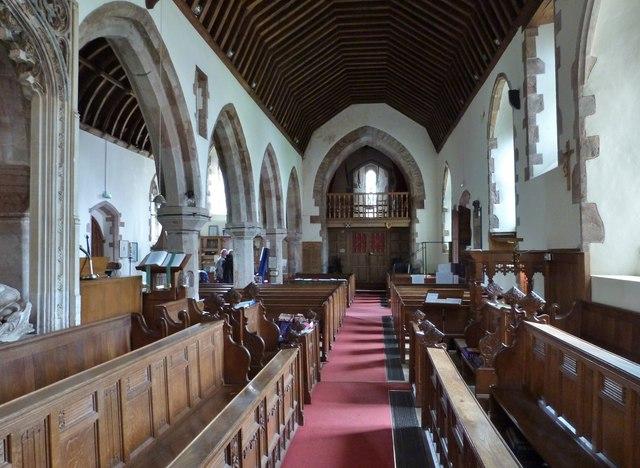 Interior of St Dubricius Church, Porlock