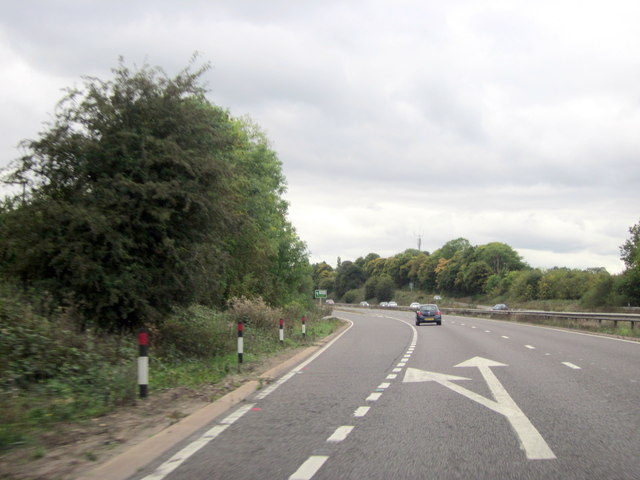 A46 Southbound Exit for Warwick A425