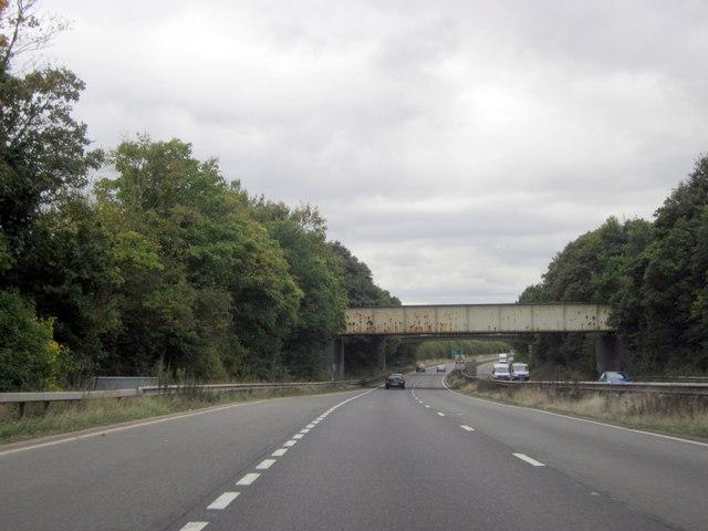 Railway & Footbridges Over Warwick By-Pass