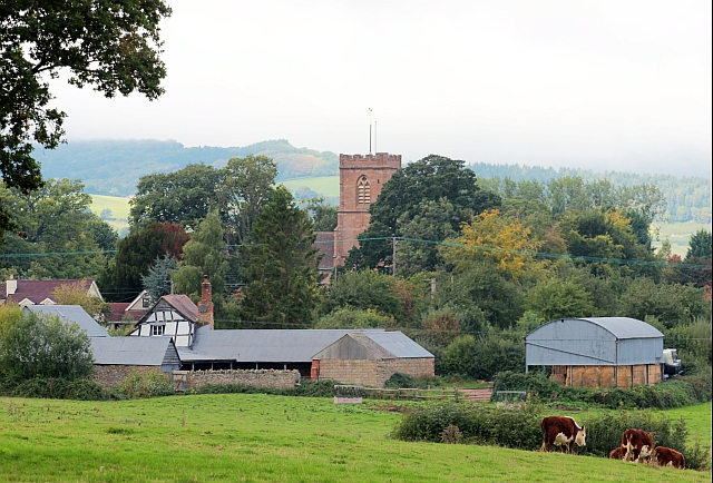 Rural idyll, view over Much Marcle, Herefordshire