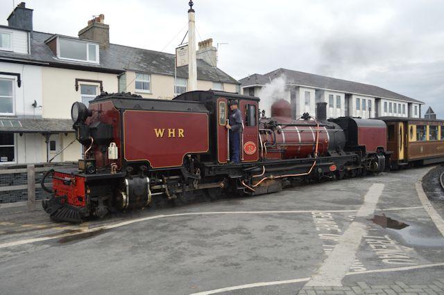 Welsh Highland Train leaving