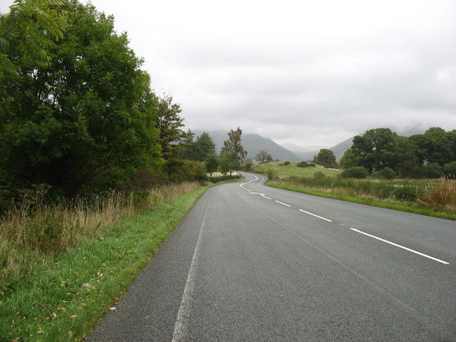 The A591 north of Thirlmere
