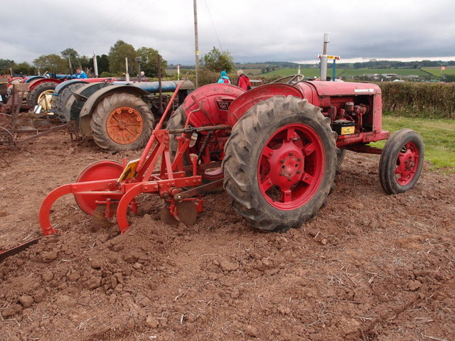 David Brown tractor and plough