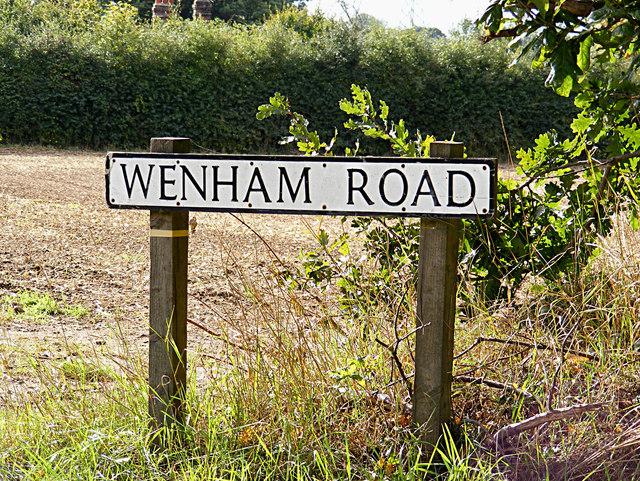 Wenham Road sign