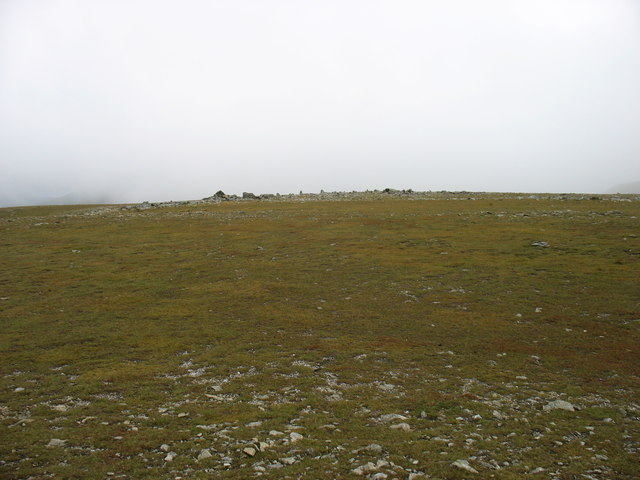 The summit plateau of Nethermost Pike