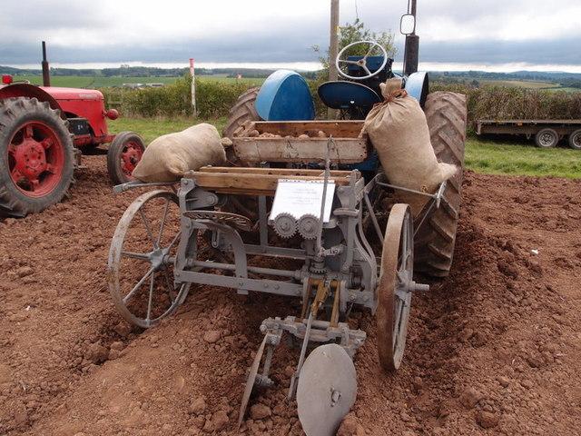 An Albion single row potato planter