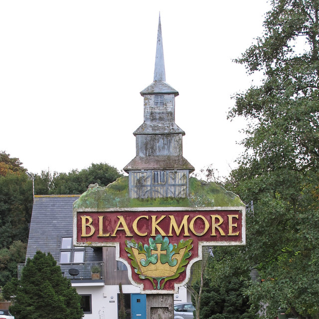 Blackmore Village Sign (Close Up)