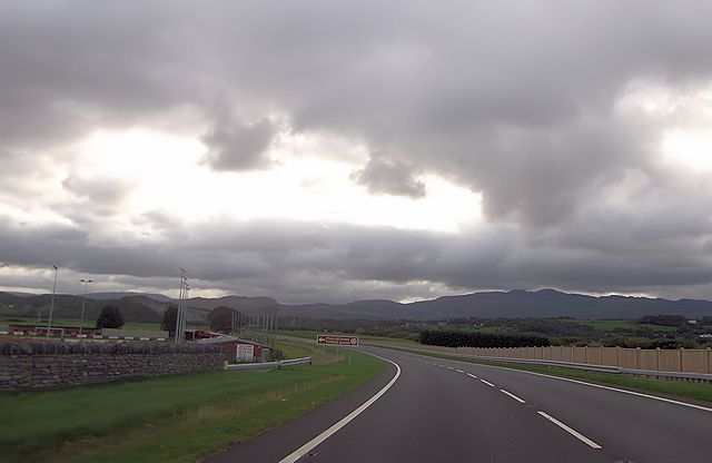 A487 approaching Porthmadog football ground