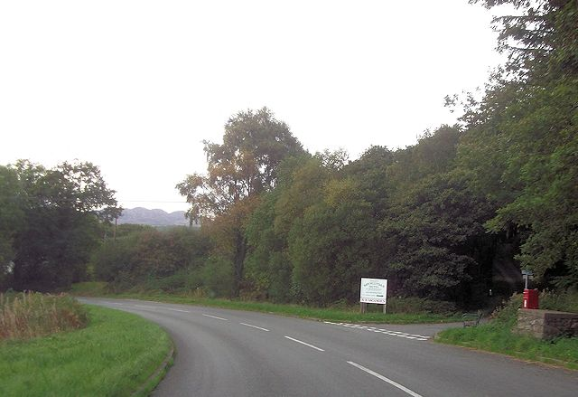 Entrance to Brynllydan Hotel from A4085