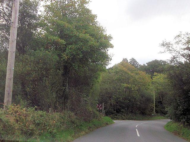 Y Wern entrance off B4410