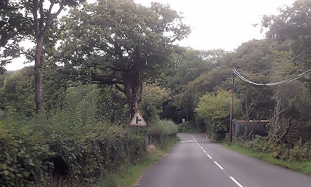 Approaching junction to Llanfrothan