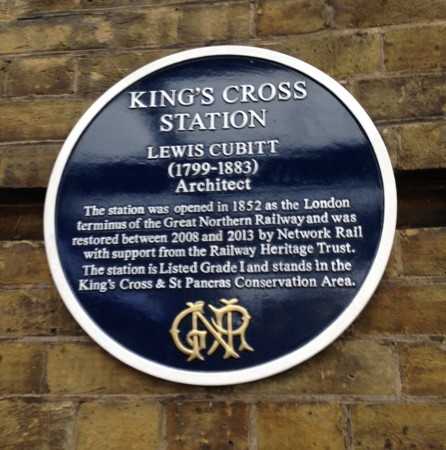 Blue Plaque, King's Cross Station