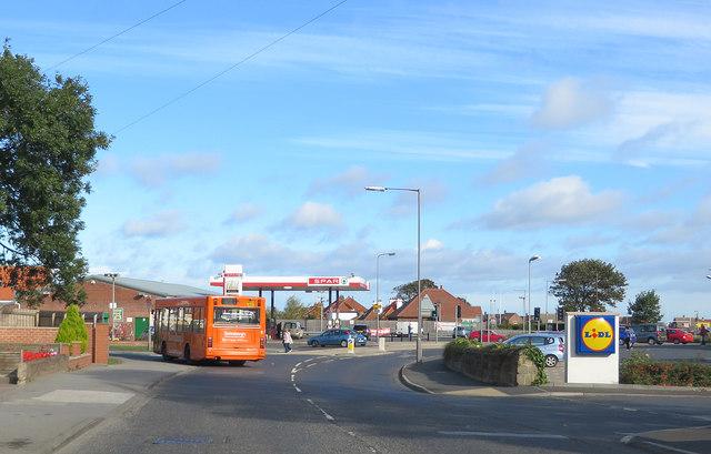 Spar petrol station and Lidl entrance