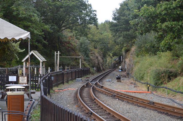 Ffestiniog Railway south from Tan-y-Bwlch