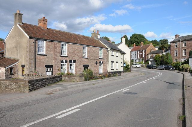 The A48 passing through Blakeney
