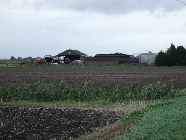 Farm buildings off Barnes Drove
