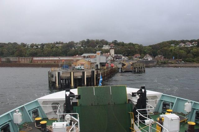 Leaving Wemyss Bay pier