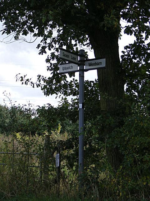 Roadsign on Wenham Road