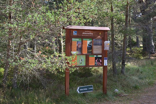Information board near Forest Lodge