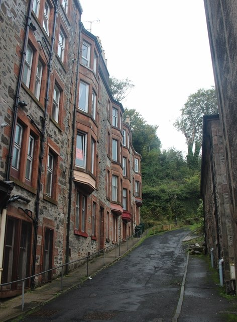 A steep lane off East Princes Street, Rothesay