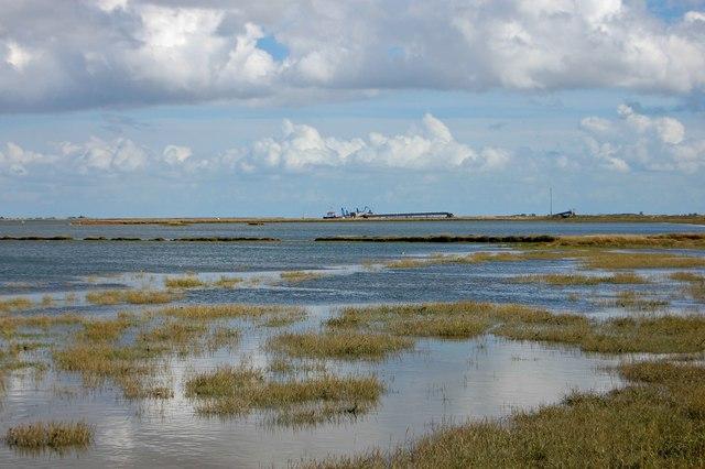View across Alfleets Marsh