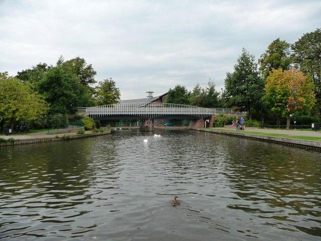 New bridge with striking railings, Newbury