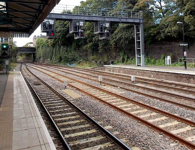 Signals at Wellington railway station
