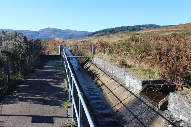 Aqueduct bringing water to Loch Striven power station