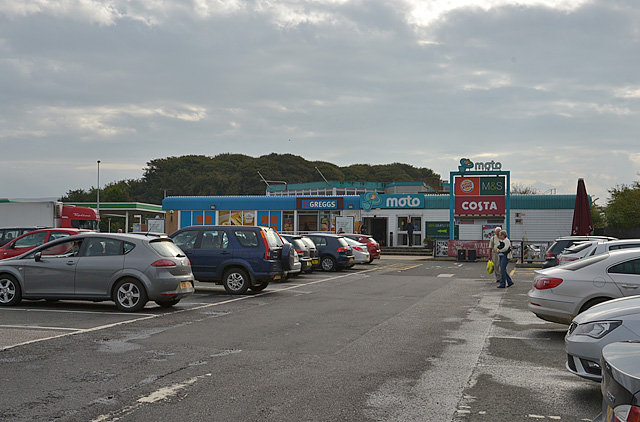 Forton M6 services, southbound