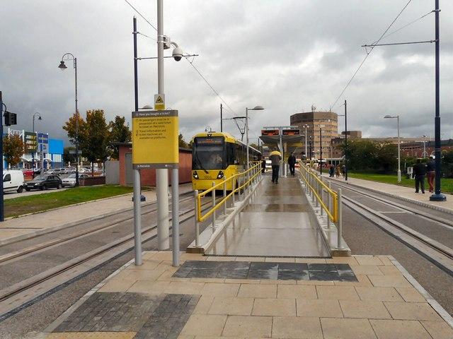 Ashton Metrolink Tram Terminus Open