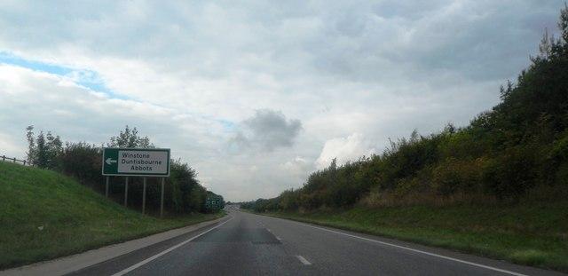 Northbound A417