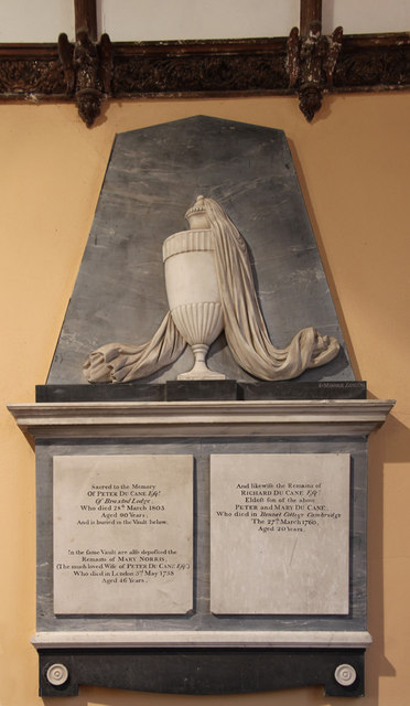 All Saints, Great Braxted - Wall monument