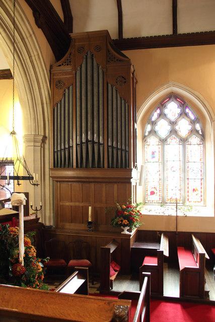 All Saints, Great Braxted - Organ