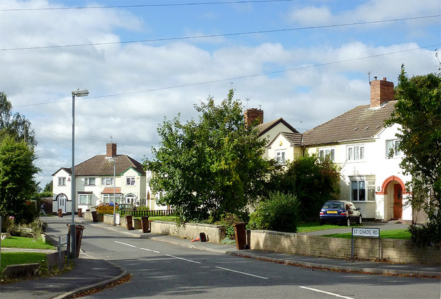 St Chad's Road in  Oldfallings, Wolverhampton