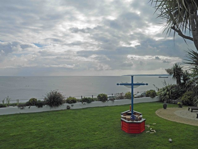 Falmouth Bay from the grounds of The Royal Duchy Hotel