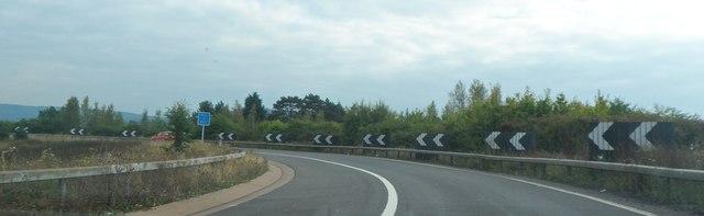 M5 entry slip road