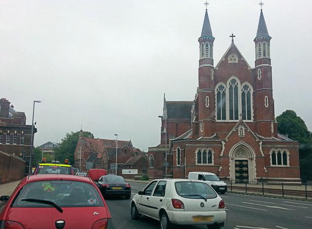 Alfred Road passes St. John's Roman Catholic Cathedral