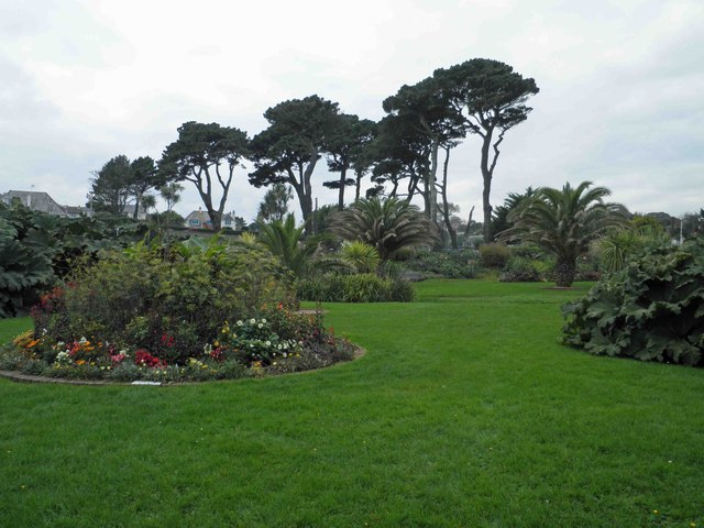 The sub tropical Queen Mary's gardens, Gyllyngvase Beach, Falmouth