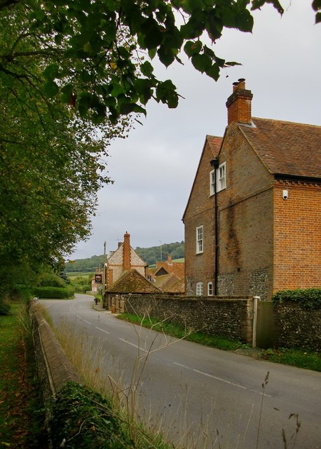 View from the churchyard gate, Fingest