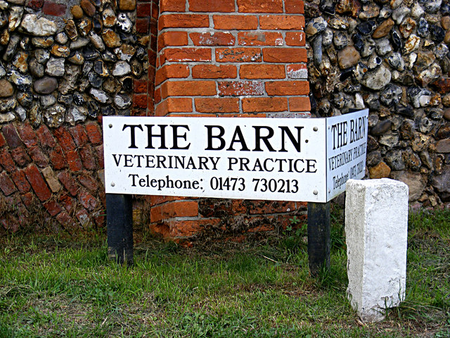 The Barn Veterinary Practice sign