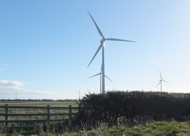 Wind turbines by the A189