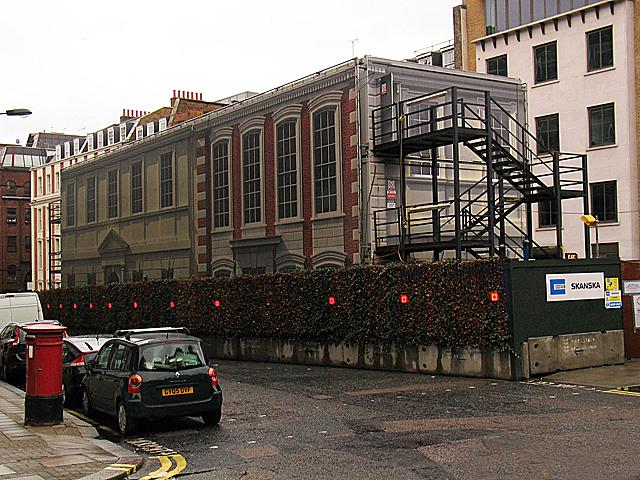 Crossrail works, Hanover Square